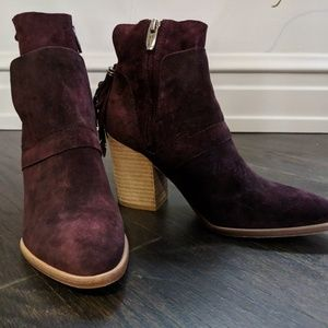 Sigerson Morrison Gianna merlot ankle booties
